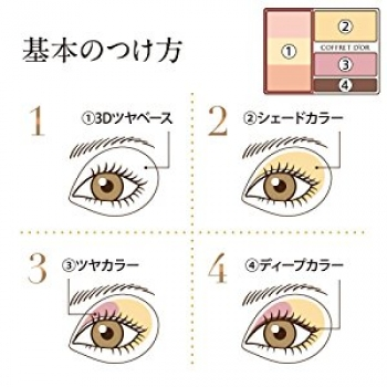 Kanebo COFFRET D`OR Eye Shadow Nudie Impression Eyes, Тени для век  4 гр