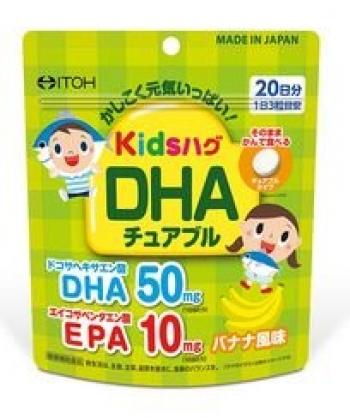 ITOH Kids Hug DHA, Витамины для детей с Омегой 3 со вкусом банана на 20 дней