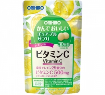 ORIHIRO Vitamin C Витамин С, жевательные витамины на 30 дней
