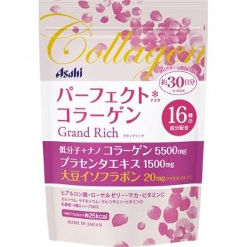 ASAHI Perfect Asta Collagen Powder Grand Rich, Коллаген с плацентой и изофлавонами сои на 30 дней