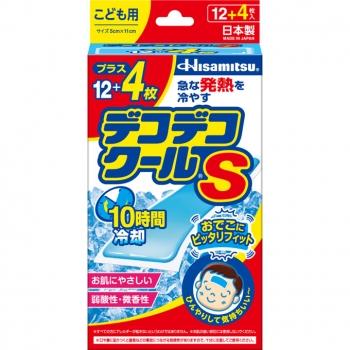 Hisamitsu Deco Deco Cool S Kids, Охлаждающие пластыри детские 16 штук