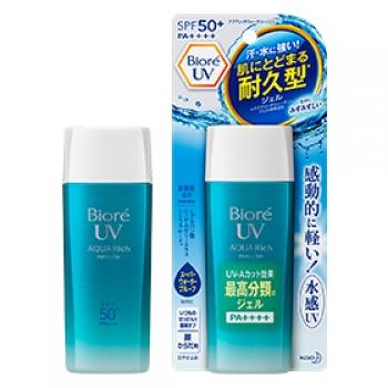 KAO Biore UV Aquarich Watery Gel SPF 50+ PA++++ Cанскрин с максимальной защитой, 90мл