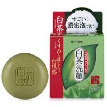 ROHTO Shirocha Soap, Твёрдое мыло с зелёным чаем 85 г