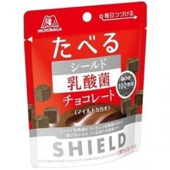 Morinaga Shield Lactic Acid Bacteria Chocolate, Противовирусный шоколад 50 г