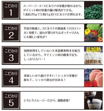 Algae Takesumi Diet Smoothie, Угольный смузи для похудения со спирулиной 200 г