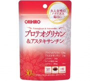ORIHIRO Proteoglycan & Astaxanthin, Протеогликан и астаксантин на 30 дней