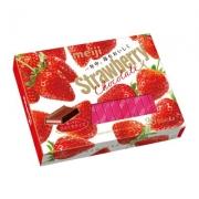 Meiji Strawberry Chocolate, Шоколад cо вкусом клубники 26 плиток
