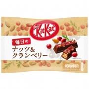 NESTLE Kit Kat Mainichi Zeitaku Cranberry&Nats, Вафли из молочного шоколада с клюквой и миндалем