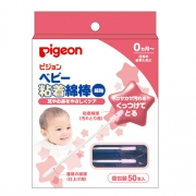 Pigeon Cotton Baby Swab with Sticky Tips, Ватные палочки для младенцев с липким составом 50 шт