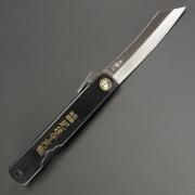 Higonokami Warikomi Midium knife, Складной нож с черной рукояткой 9,10,12 см