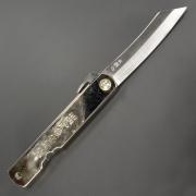 Higonokami Warikomi Midium knife, Складной нож с никелевой рукояткой 9,10,12 см