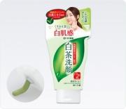 ROHTO Shirocha Paste Soap, Пенка для умывания c зелёным чаем 120 г