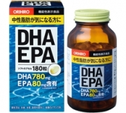 ORIHIRO DHA EPA, Омега 3, 180 капсул