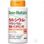 ASAHI Dear-Natura Ca, Magnesium, Zinc, Vitamin D, Кальций, магний, цинк и витамин D 180 табл