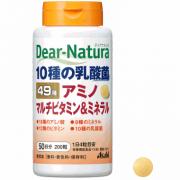 Asahi Dear-Natura Best Amino Multi Vitamin & Minerals,Комплекс из 49 Мультивитаминов и минералов на 50 дней