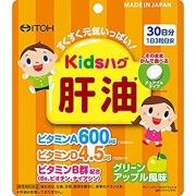 ITOH Kids Hug Liver Oil, Витамины для детей со вкусом яблока на 30 дней
