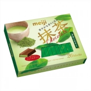 Meiji Matcha Choсolate, Шоколад со вкусом зеленого чая 26 плиток