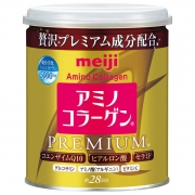 MEIJI Amino Collagen Premium, Премиум Амино коллаген Q10 + Гиалуроновая кислота + Керамиды 200г