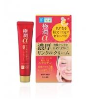 HADA LABO Gokujyun Alpha Super Moist Lift Cream, Лифтинг крем вокруг глаз и губ