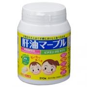 NUNOKAME Liver oil marble, Мультивитамины с рыбьим жиром для детей и взрослых на 103 дня