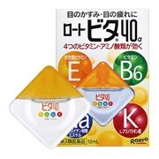 ROHTO Vita 40 Alfa, Глазные капли 4 витамина, мягкие 12 мл