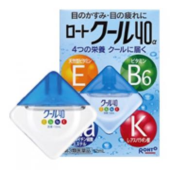 ROHTO Cool 40 Alfa, Глазные капли 4 витамина, освежающие 12 мл