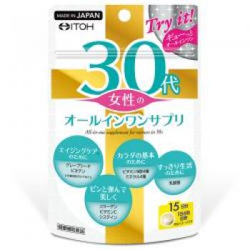 ITOH 30 years Womens All In One Suppli, Комплекс витаминов и минералов для женщин старше 30 лет на 15 дней