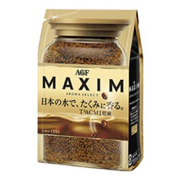 """Кофе растворимый сублимированный, AGF """"Maxim"""" Aroma Select 135гр"""